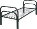 Односпальные кровати металлические для студенческих общежитий - фотография №4