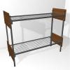 Двухъярусные кровати металлические для детских оздоровительных лагерей - фотография №2