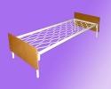 Бюджетные кровати металлические для размещения постояльцев в отелях