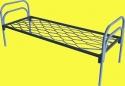 Кровати металлические с сеткой из прокатной пружины для пансионатов - фотография №2