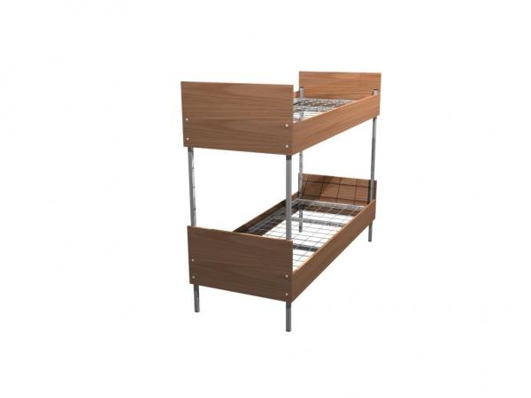 Деревянные кровати, Кровати металлические с деревянными спинками, опт