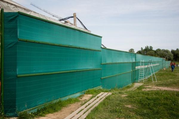 Сетка для ограждения стройплощадок ПП210 (зеленая) 2,1х100м.